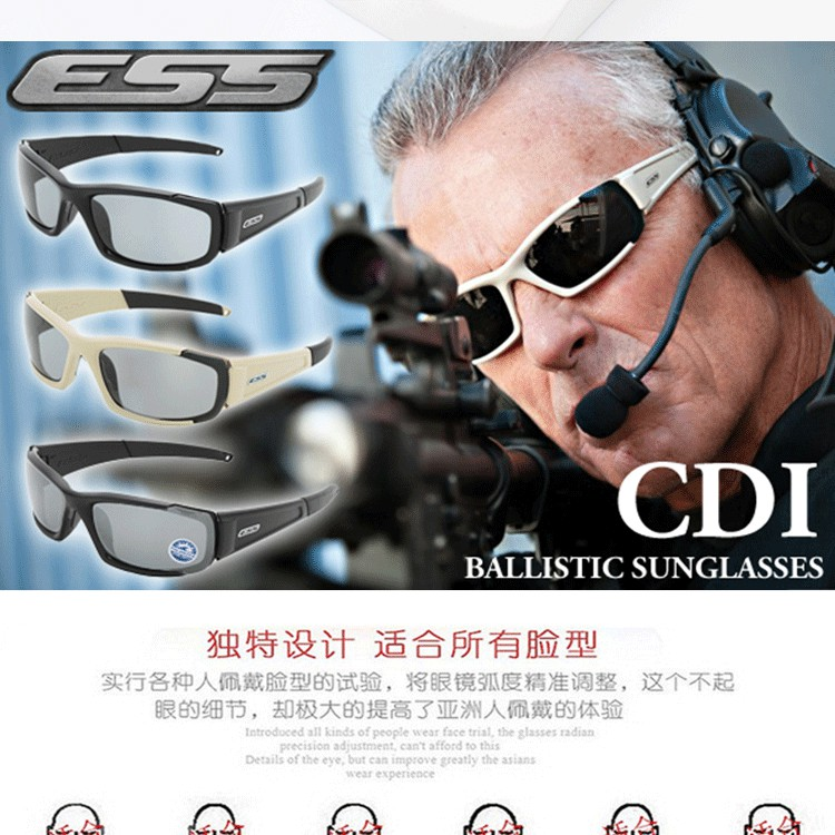 361d334948e Newest ESS CDI military fans goggles tactical bullet-proof shooting glasses  anti