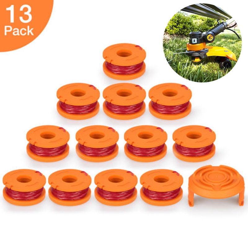 Edger Line Spool For Model Worx Wa0010 8 Pack Useful Replacement 10ft Grass Trimmer Line Spool