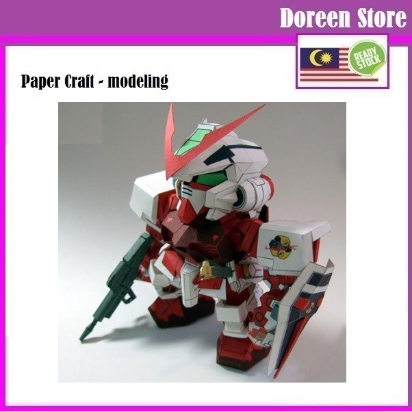 Gundam Paper Craft: SD Astray Red Frame Gundam (Paper Model kit)