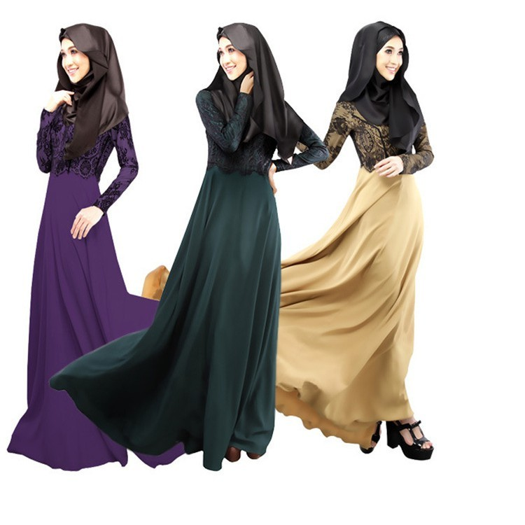 9c79475535 Muslim women's clothing long sleeve nationality Malay Abaya Muslim Women  Dresses