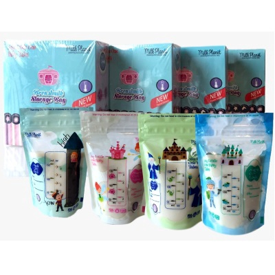 Milk Planet: My Little One Fairy Tales Double Zip Lock Breastmilk Storage bags 5oz - 28pcs (10 BOX)