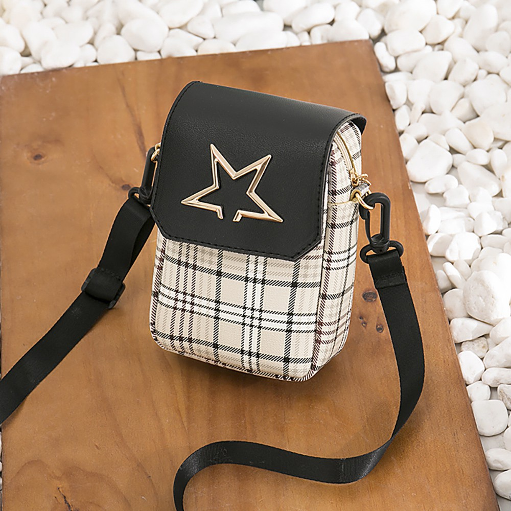 8cb8825c73c Women Wallet Cross-body Bag Leather Purse Coin Cell Phone Mini Pouch Card  Holder Shoulder Wallet