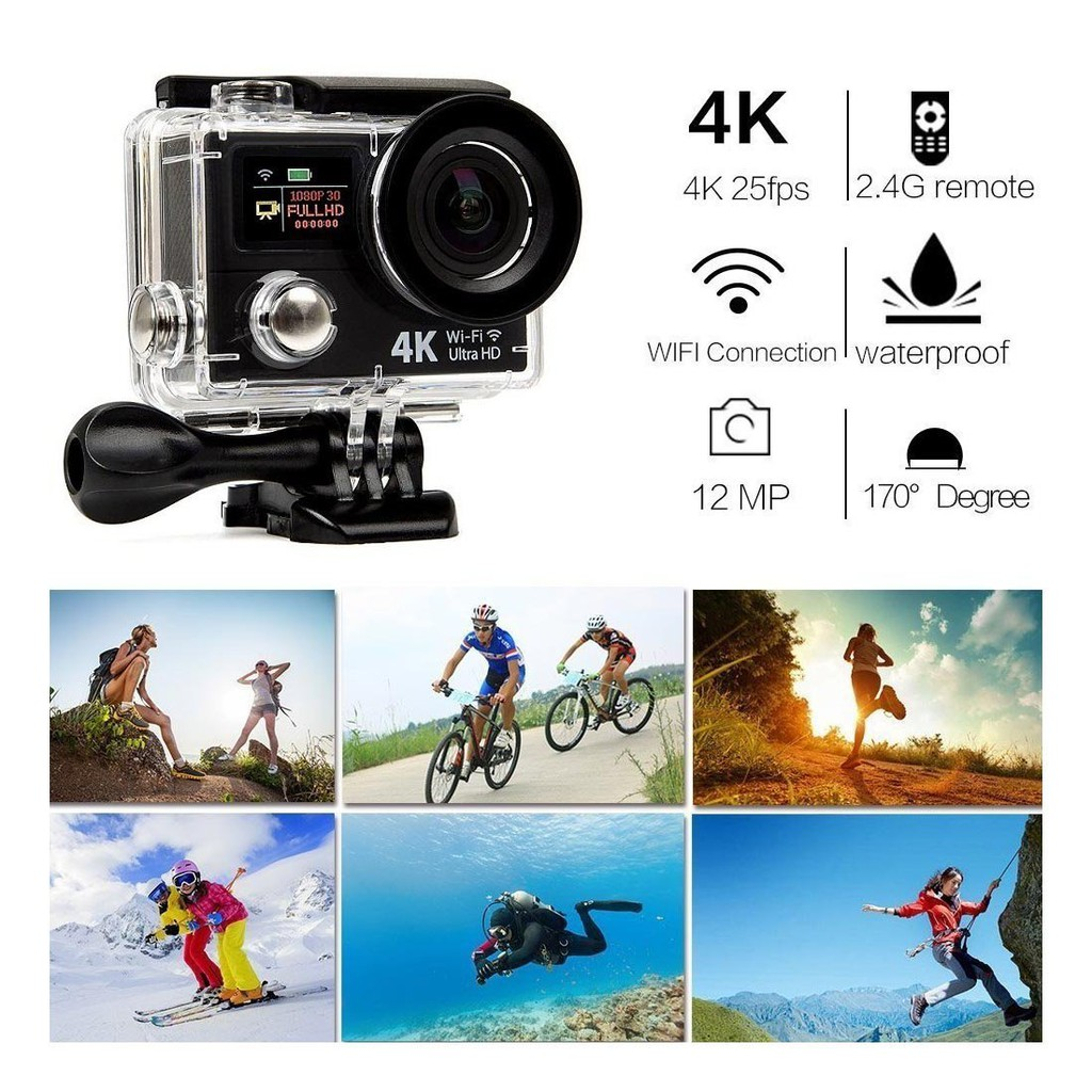 H3r Action Camera 4k Wifi Ultra Hd Sport Shopee Malaysia Bult In Remote Control Cam