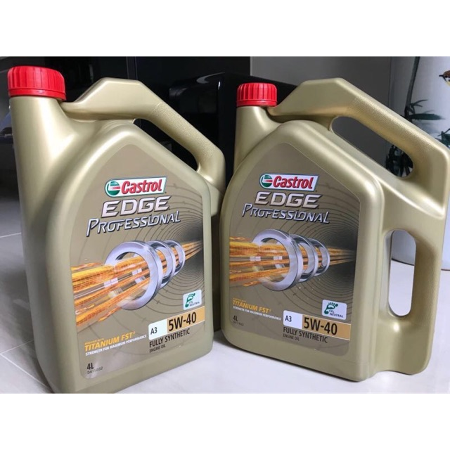Flot Engine Oil 5W40 Castrol EDGE FST without labor | Shopee Malaysia KC-56