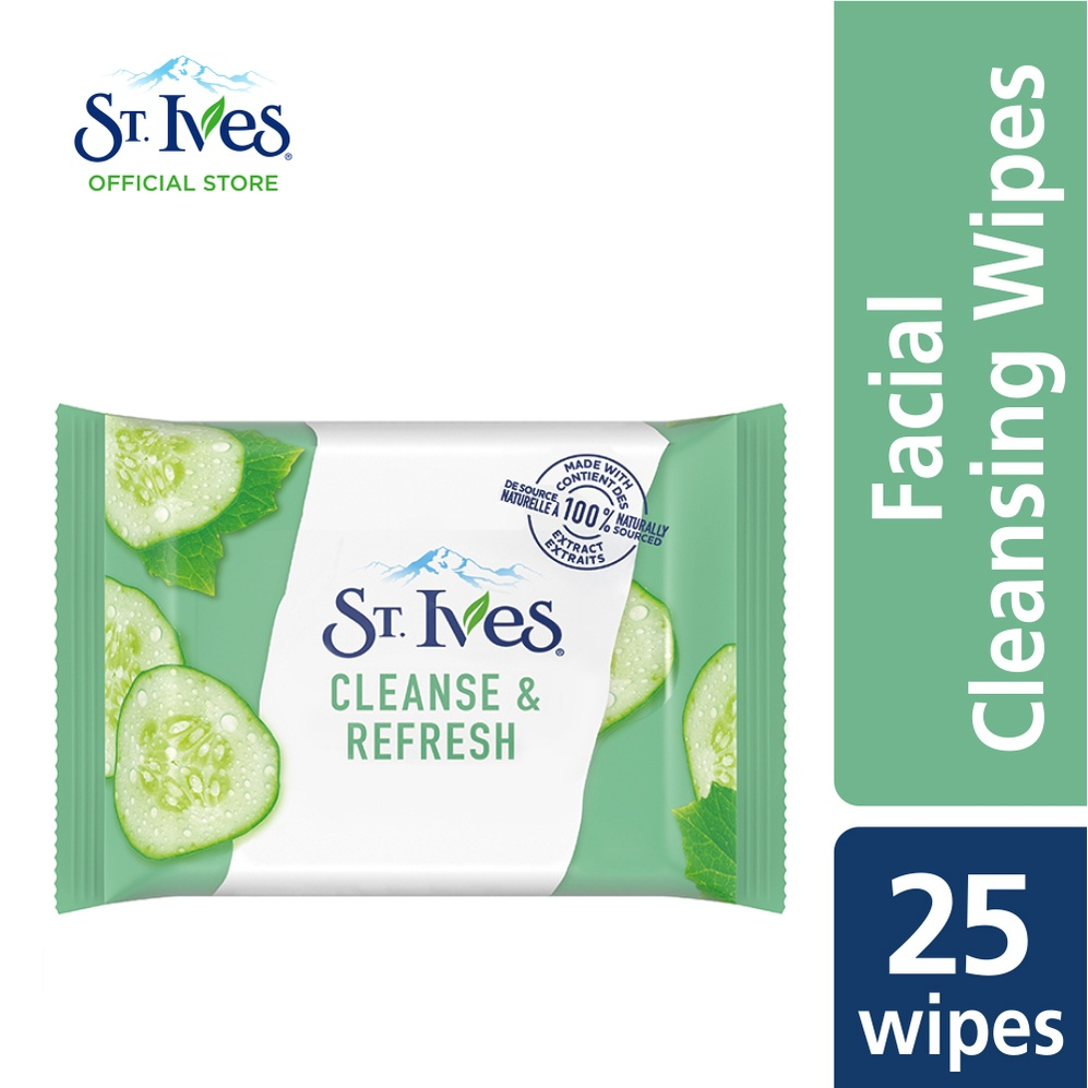 St. Ives Cleanse & Refresh Cucumber Wipes (25's)
