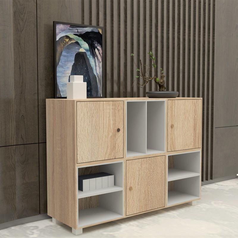 SCOTT 4 feet sideboard filling cabinet bookcase/ rak buku/ rak buku bertutup
