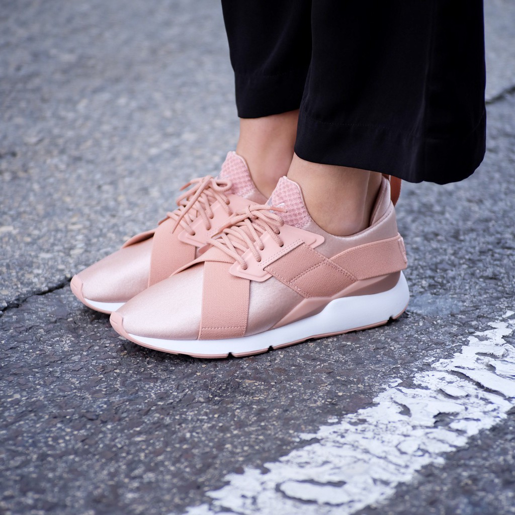 Puma Muse Satin EP rose gold satin casual shoes light pink training shoes