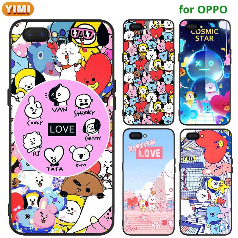 Casing Oppo A12 A12e A31 A3s A7 A5s F1s F3 A77 F5 Youth F7 F9 F9pro F11 F11pro A9 A5 2020 Cover Bt21 Bts Soft Case Shopee Malaysia