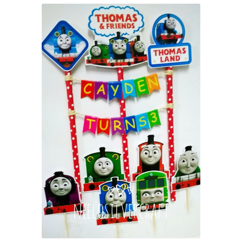 Magnificent Thomas Friends Cake Topper For Birthday Cake Shopee Malaysia Birthday Cards Printable Opercafe Filternl