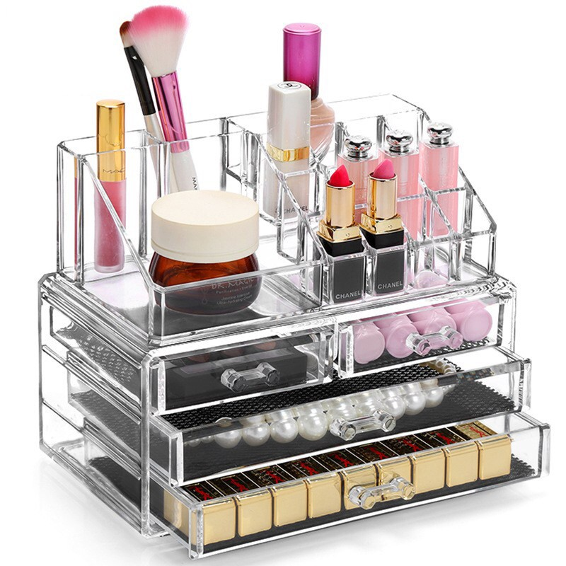 af05ad9249e2 Acrylic Big Size Cosmetic Makeup Organizer Storage Box Case Container Rack