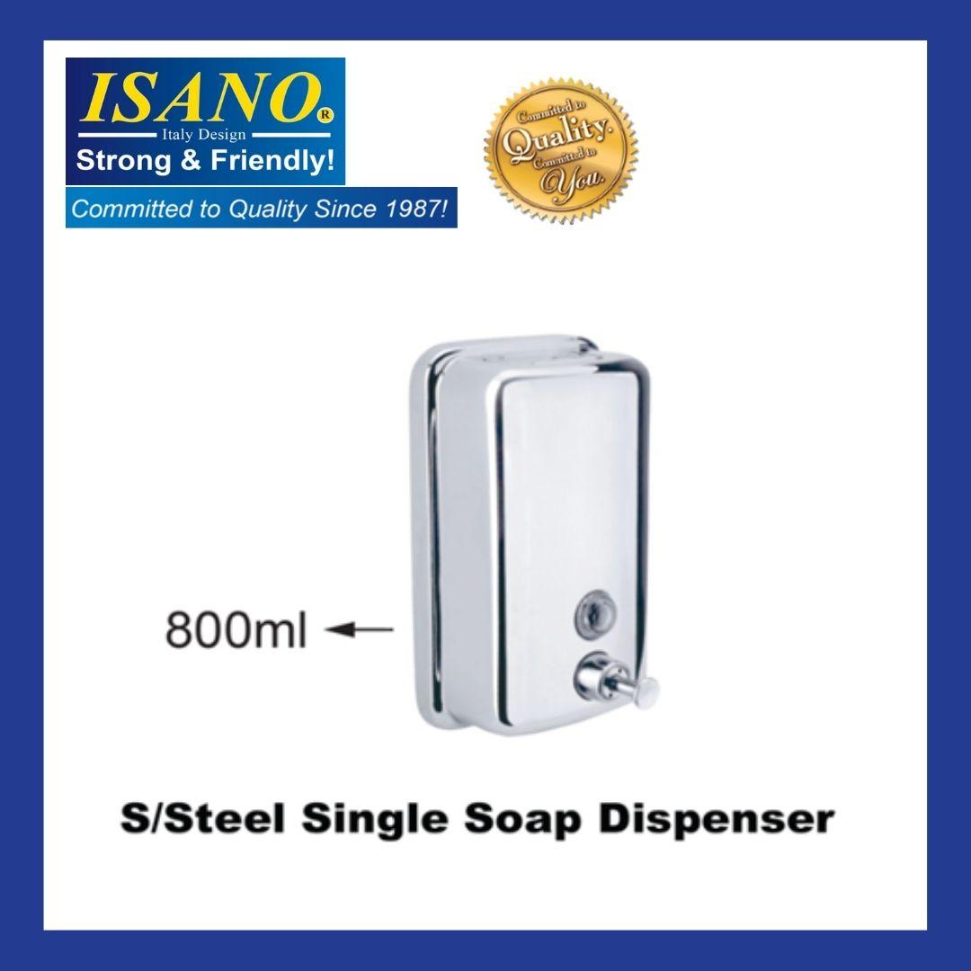 ISANO Stainless Steel Single Soap Dispenser - Bekas Sabun - 1233SD