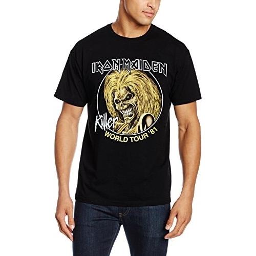 Iron Maiden Men/'s  Killers World Tour /'81 Sweatshirt Black