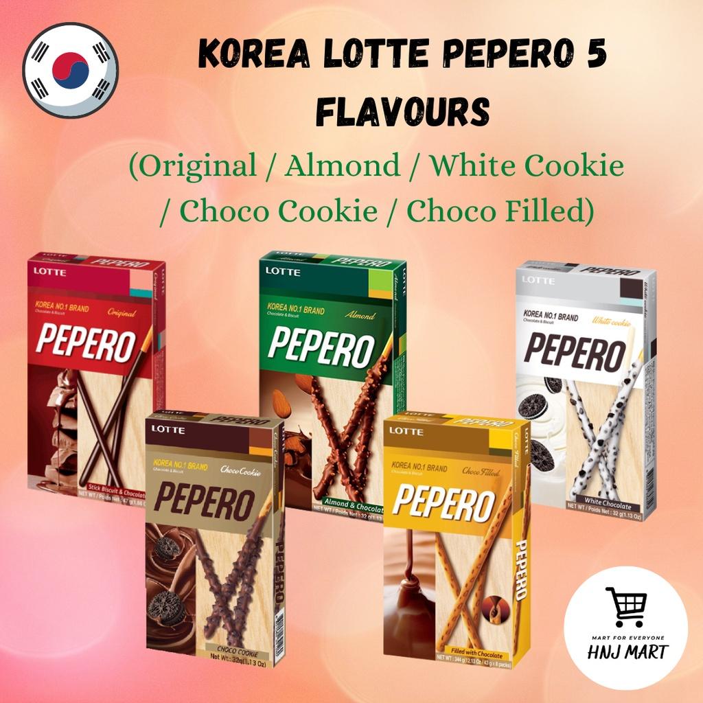 Korea Lotte Pepero 5 Flavours