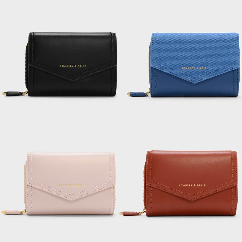 4a3be224e24a charles & keith strap detail long wallet Cardholder magnetic closure long  purse | Shopee Malaysia
