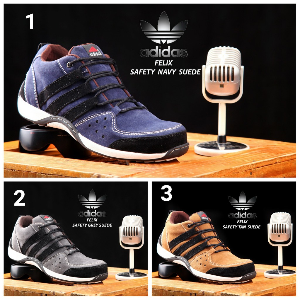 (ADIDAS SAFETY) MEN'S SHOES ADIDAD FELIX SAFETY SHOES LOW BOOTS END IRON BAGUS