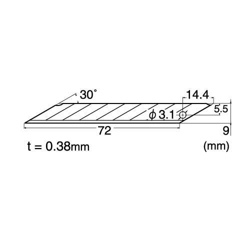 NT Cutter BD-50 30 Degree Blades, 50-Blade/Pack, 1 Pack (BD-50P)