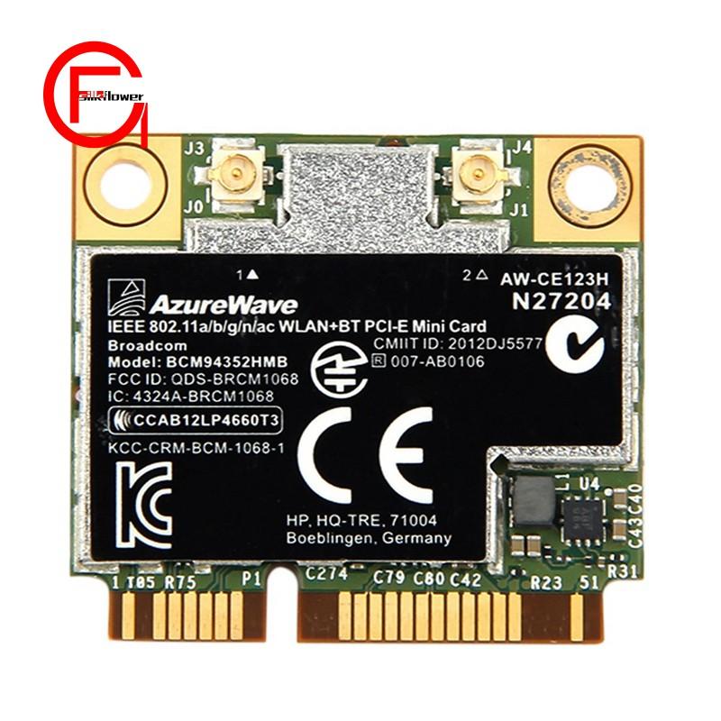 Dual Band Bcm94352Hmb Bcm94352 802 11/Ac 867Mbps Wifi Bluetooth 4 0 Mini  Pci-E Wireless Card Aw