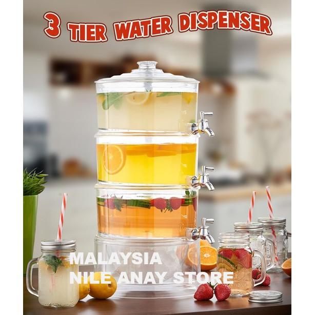 MALAYSIA? ] 7 LITER JUG AIR 3 TINGKAT / BEKAS AIR MINUMAN 3 TIER / 3 TIER WATER DRINK DISPENSER