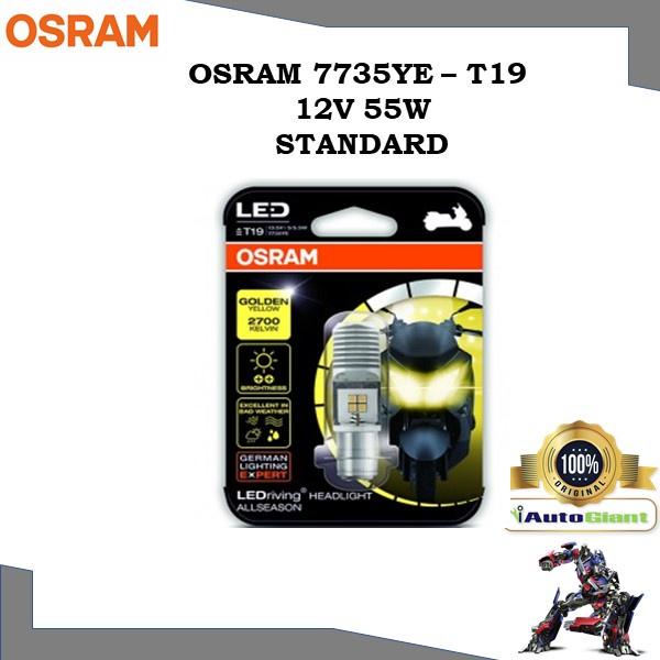OSRAM 7735YE - T19 12V 5/5.5W STANDARD LAMPU DEPAN KUNING