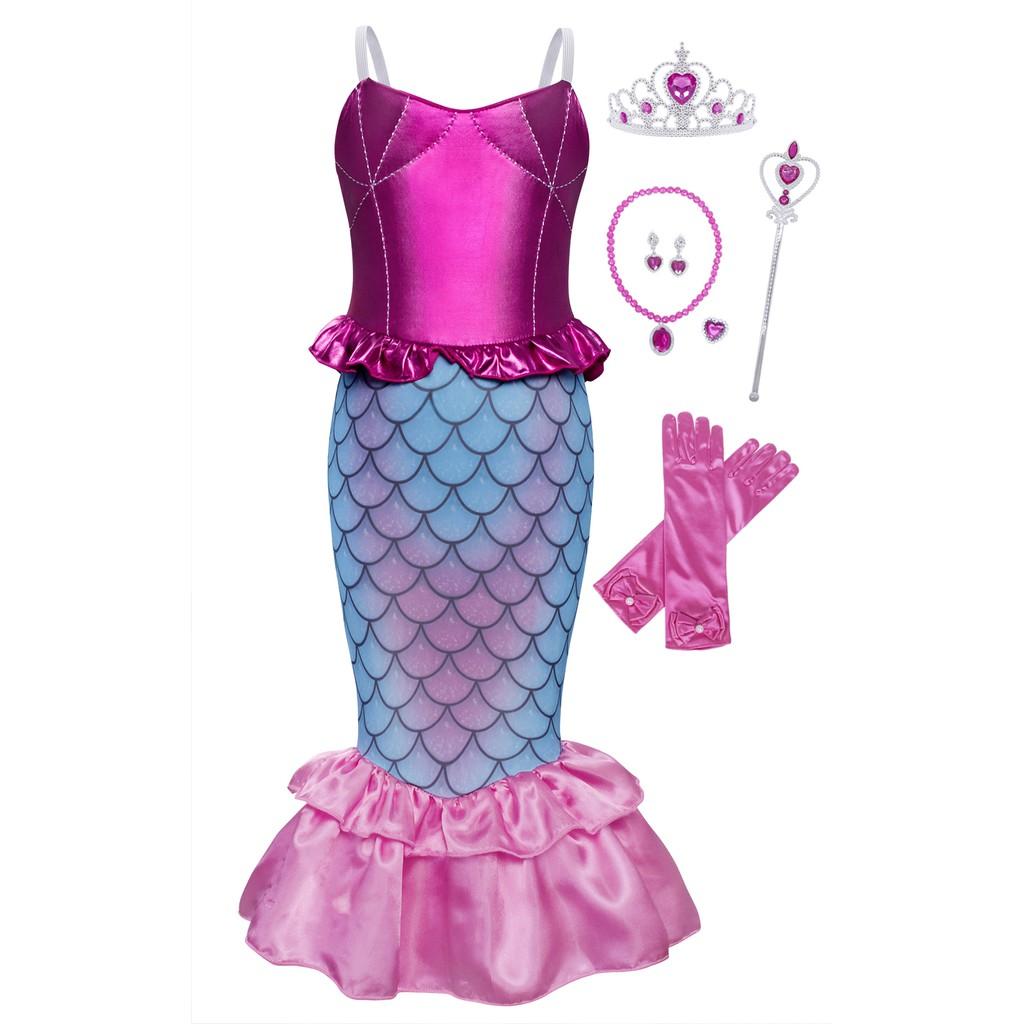 Disney The Little Mermaid Ariel Girls//Toddler Pyjama 2 Piece Shorts Set 2-8 Years