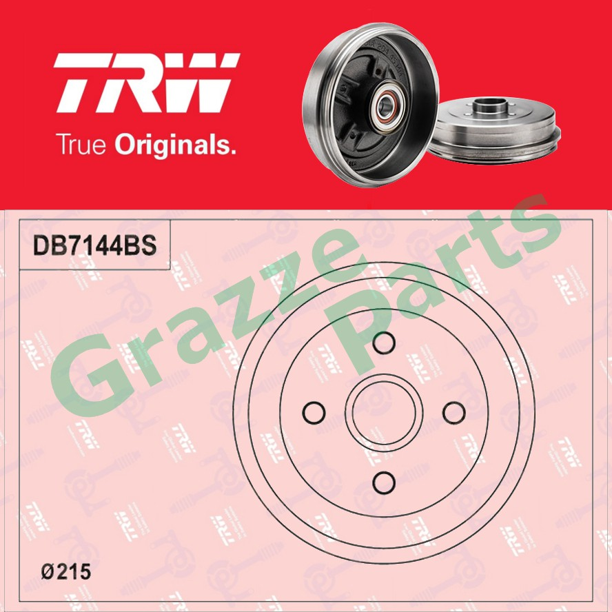 (1 pc) TRW Brake Drum Rear DB7144BS for Proton Saga BLM - With Bearing (272mm)