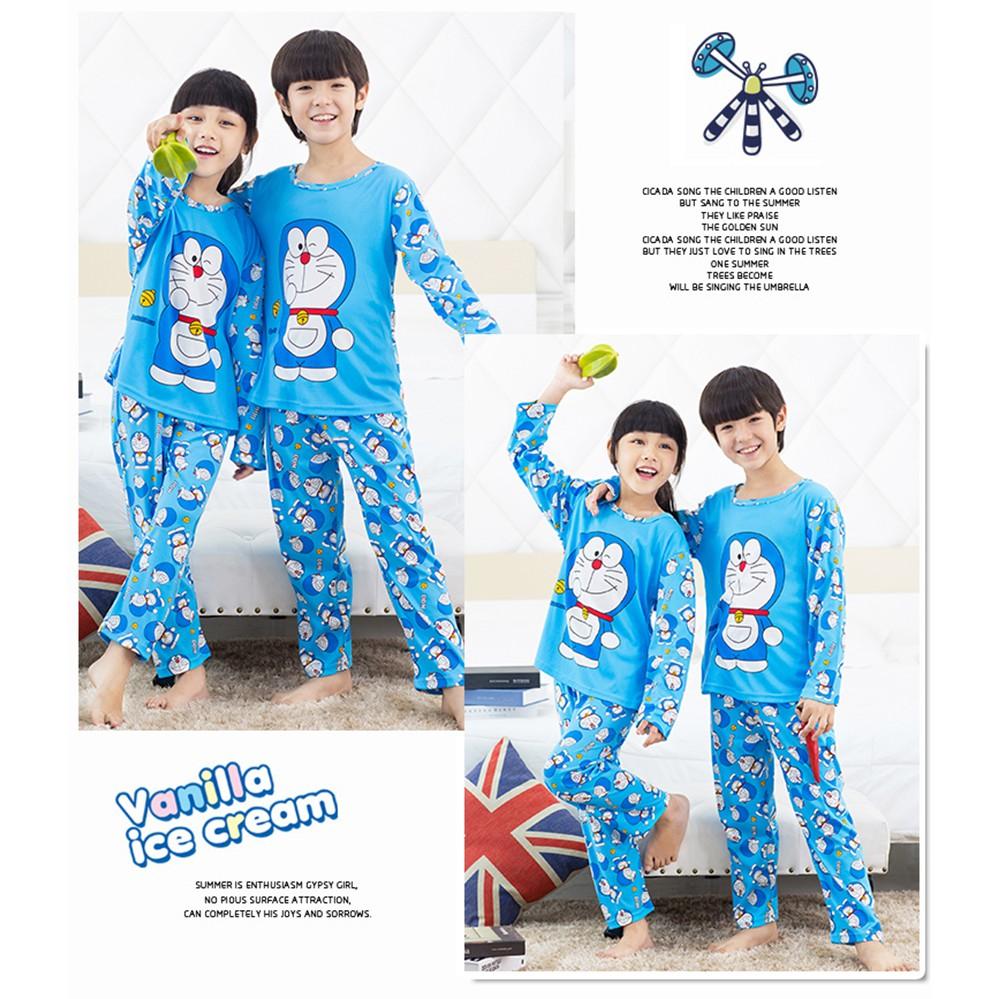 Pajama Set Kids Long Clothes Long Sleeve Soft Sleepwear Stock 2PCS Set