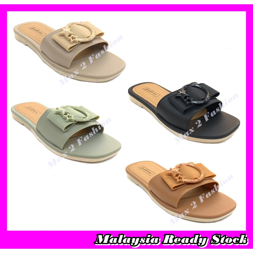 *C&T* Ready Stock J31176-3A Ladies Korean Style Comfort & Casual Sandal Slipper