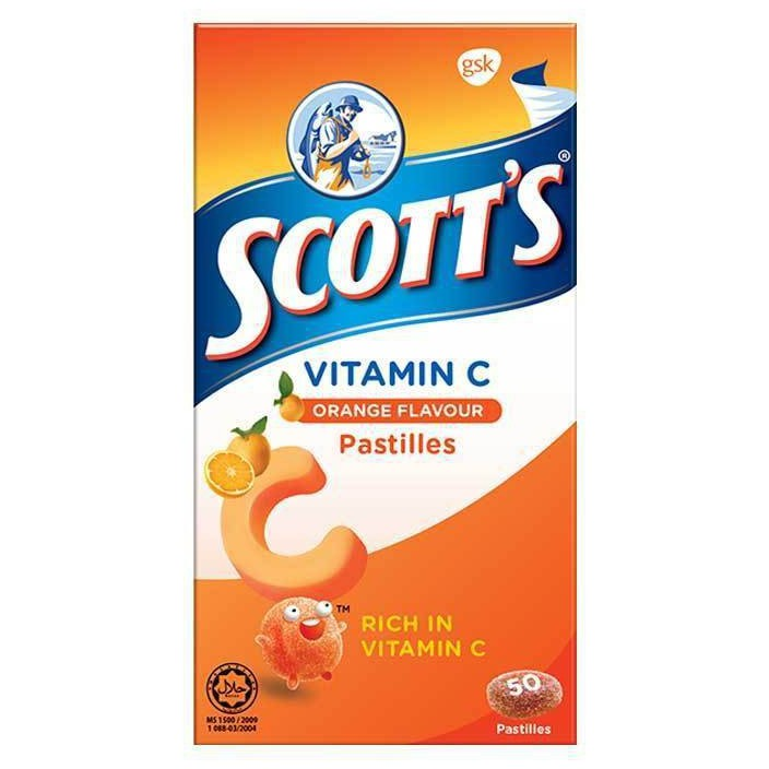 Scott's Vitamin C Pastilles 100g - Orange (50s)