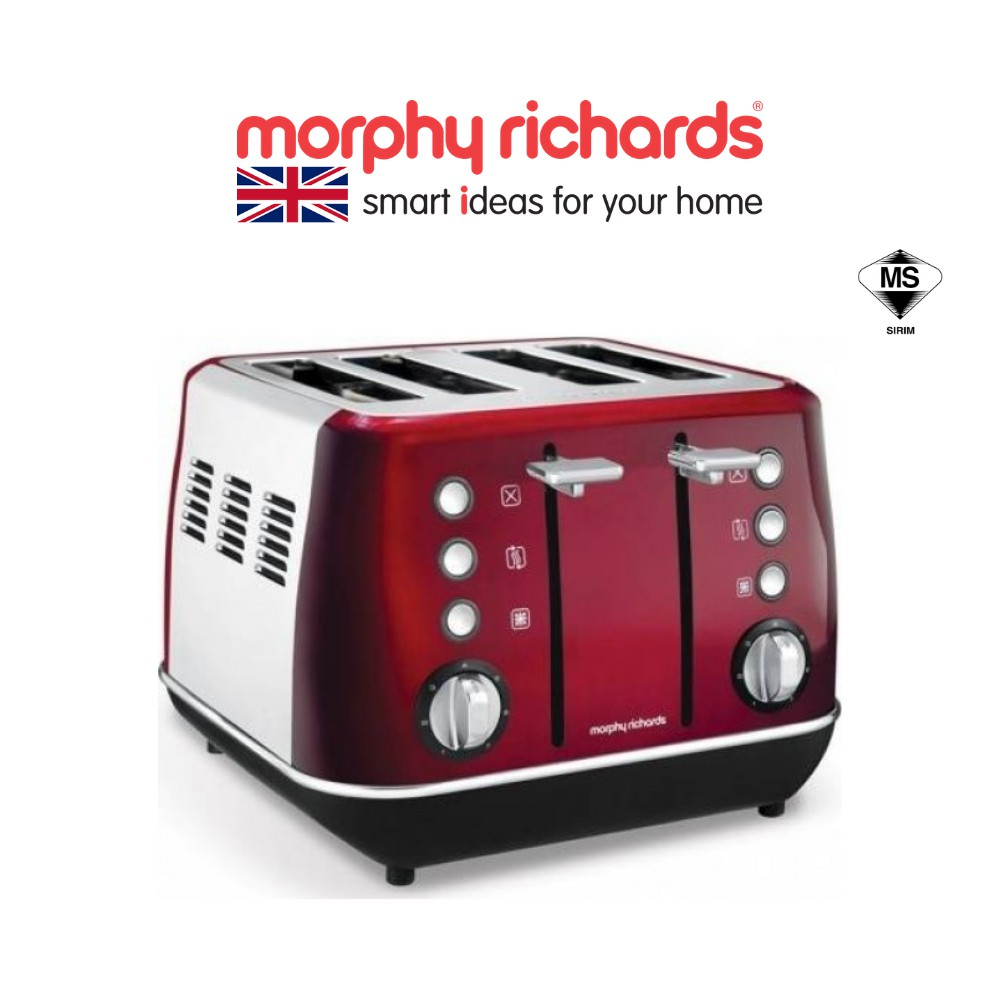 Morphy Richards Toaster 4 Slice Evoke Red 240108
