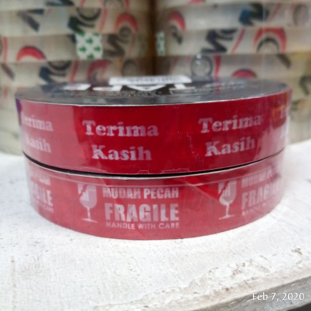 Seal Note Tape Thank You Warning / OPP Tape Terima Kasih Amaran (18.5mm X 50m)