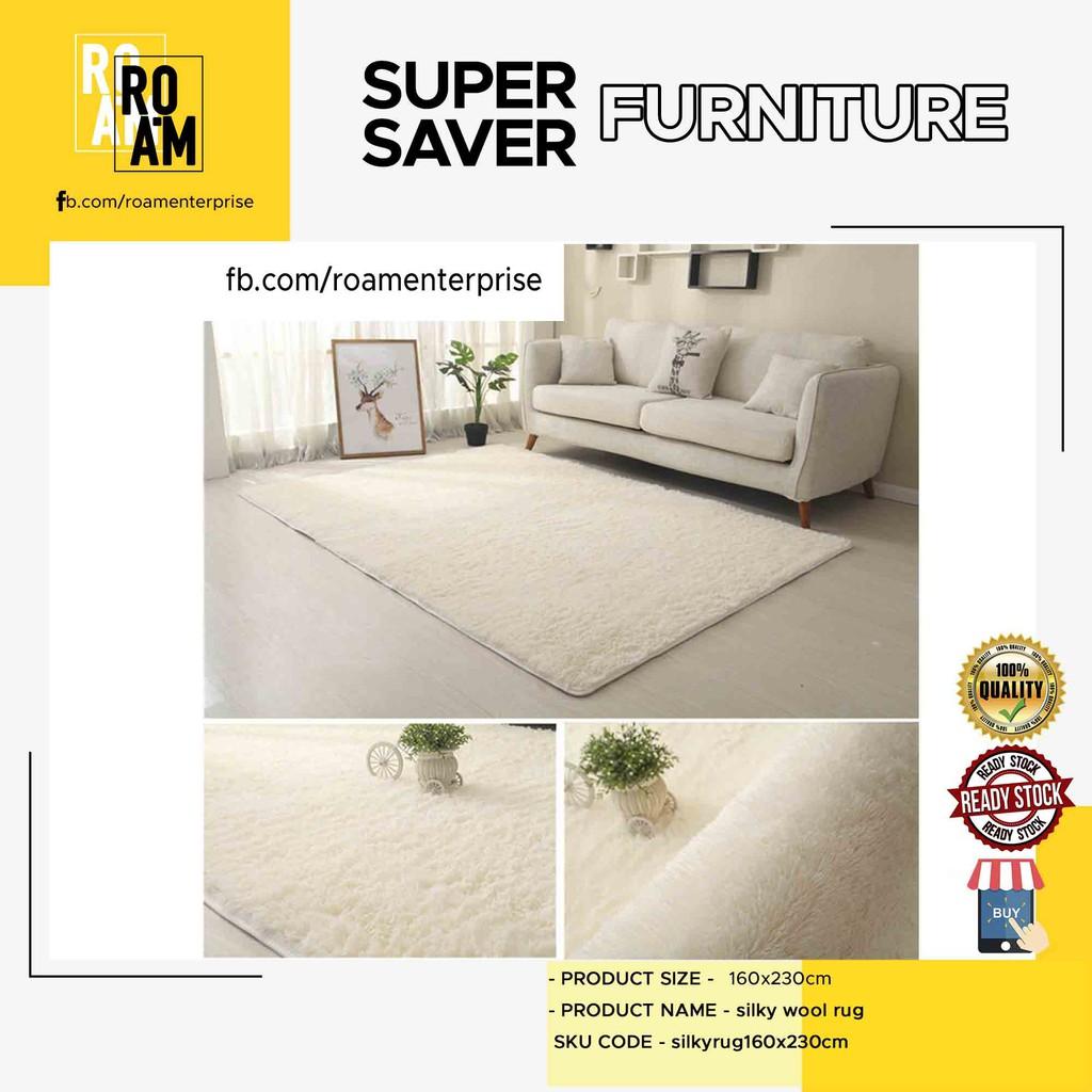 (READY STOCK) 160x230cm silky wool rug - 2 COLOR
