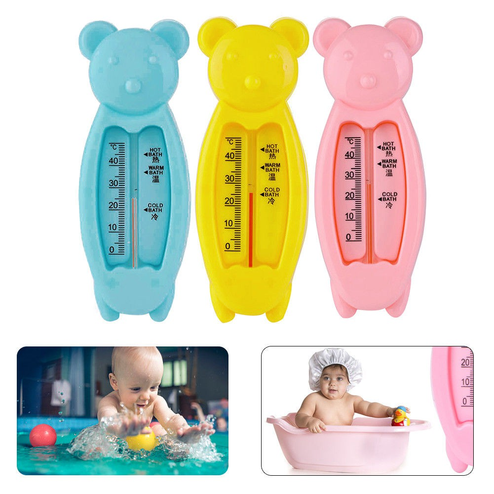 Baby Bath Thermometer Cartoon Baby Bathing Temperature Gauge for Infants Toddler Shower Pink 2Pcs