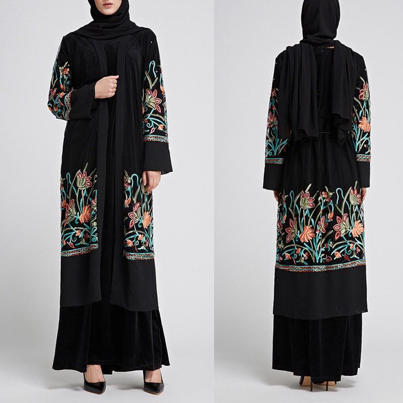 Mother & Kids Activity & Gear Missjoy 2018 Muslims Arabian Dress Kaftan Abaya Cardigan Dubai Adult Turkish Floral Patchwork Mesh Lace Long Maxi Hijab Dresses Be Friendly In Use