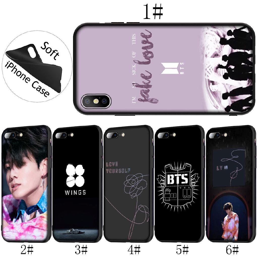 iPhone XR XS Max 6S 7 8 Plus 5S Soft Cover BTS Fake Love