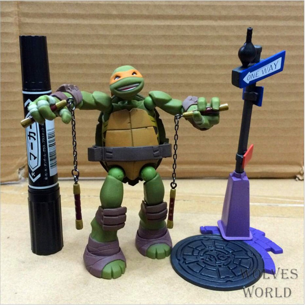 Revoltech TMNT Teenage Mutant Ninja Turtles Donatello PVC Action Figure A88N