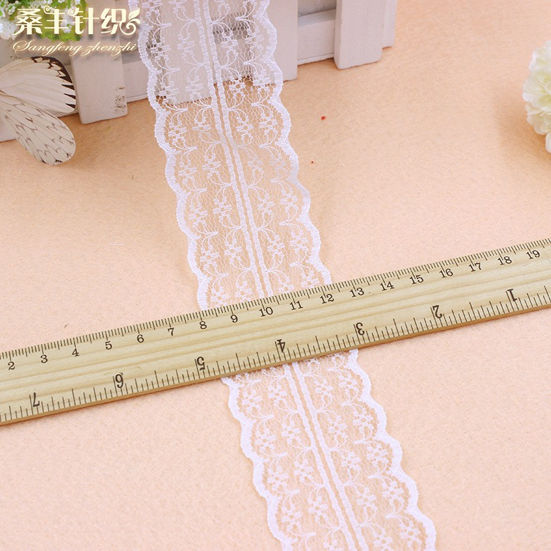 10Yards Lace Ribbon Tape Width 45MM Trim Fabric DIY Embroidered For Sewing Decor