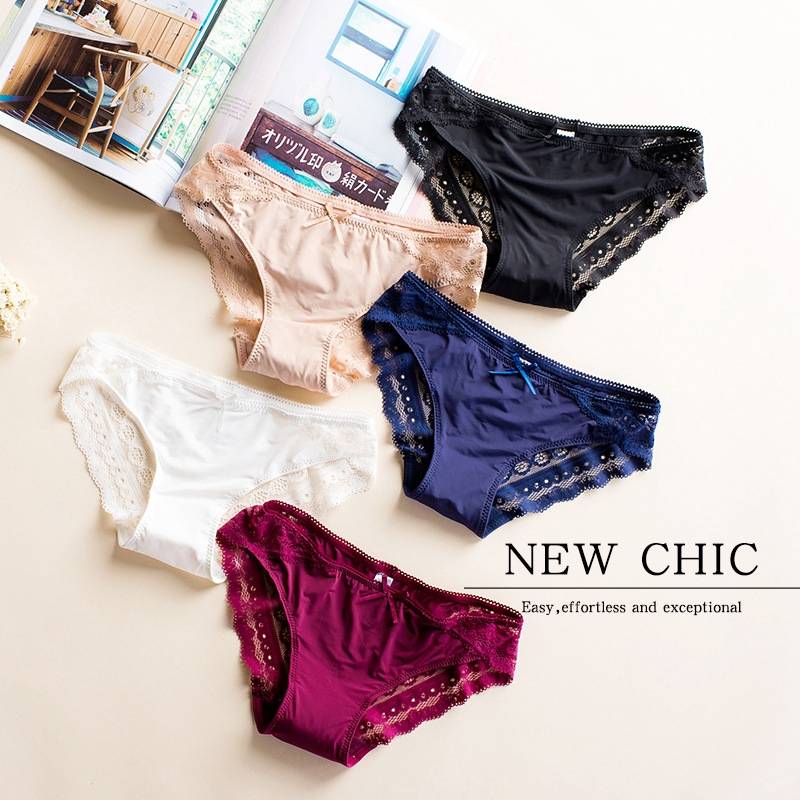 2d9e7b7b64a5 Cotton Ladies Panties Mid Waist Breathable Solid Color 6 Pcs | Shopee  Malaysia