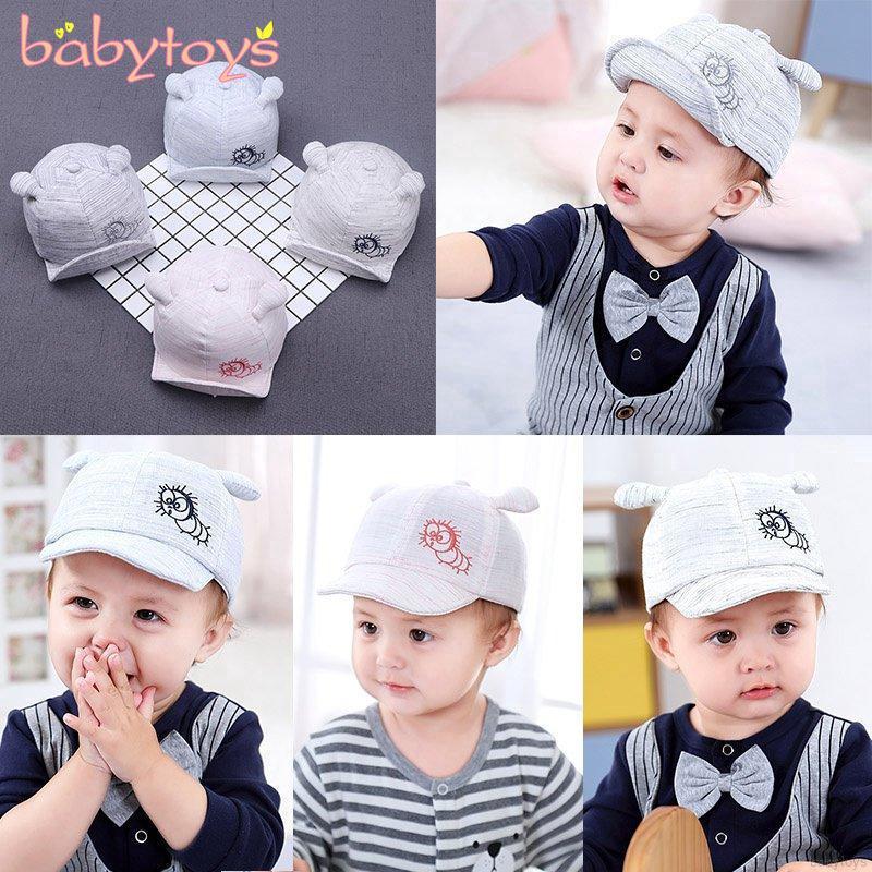 Little Kid Baseball Cap Sun Hat Boy Girl Baby Letter Animal Cotton Visor