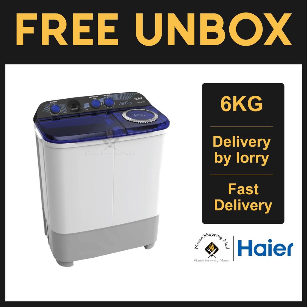 Haier HWM60-SX3 6KG Twin Tub Semi Auto Washing Machine Mesin Basuh