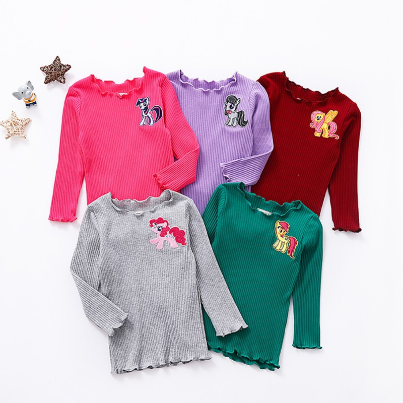 Kids Baby Girls Toddler Casual Long Sleeve Cotton T-shirt Tops Blouse Clothes