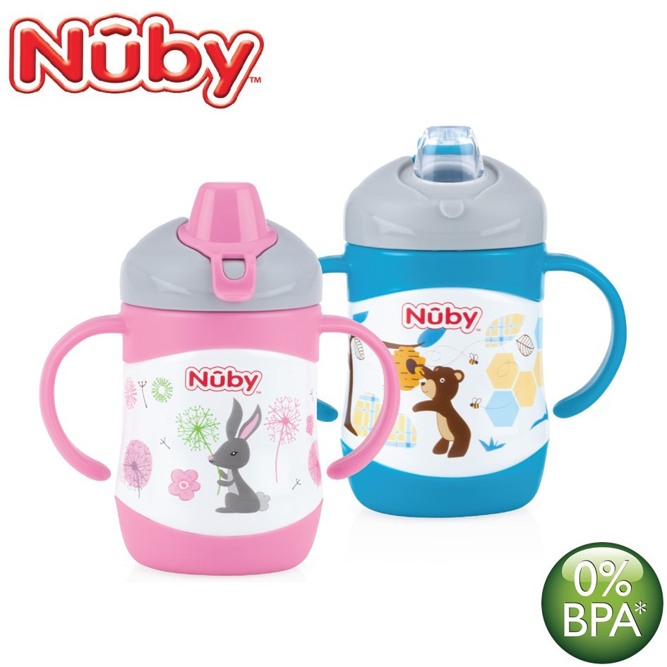 Nuby Click It Flip Twin Handle Stainless Steel Cup 7oz 220ml 12m Mug With Lid 240 Ml Blue Monkey Nb10222 Shopee Malaysia