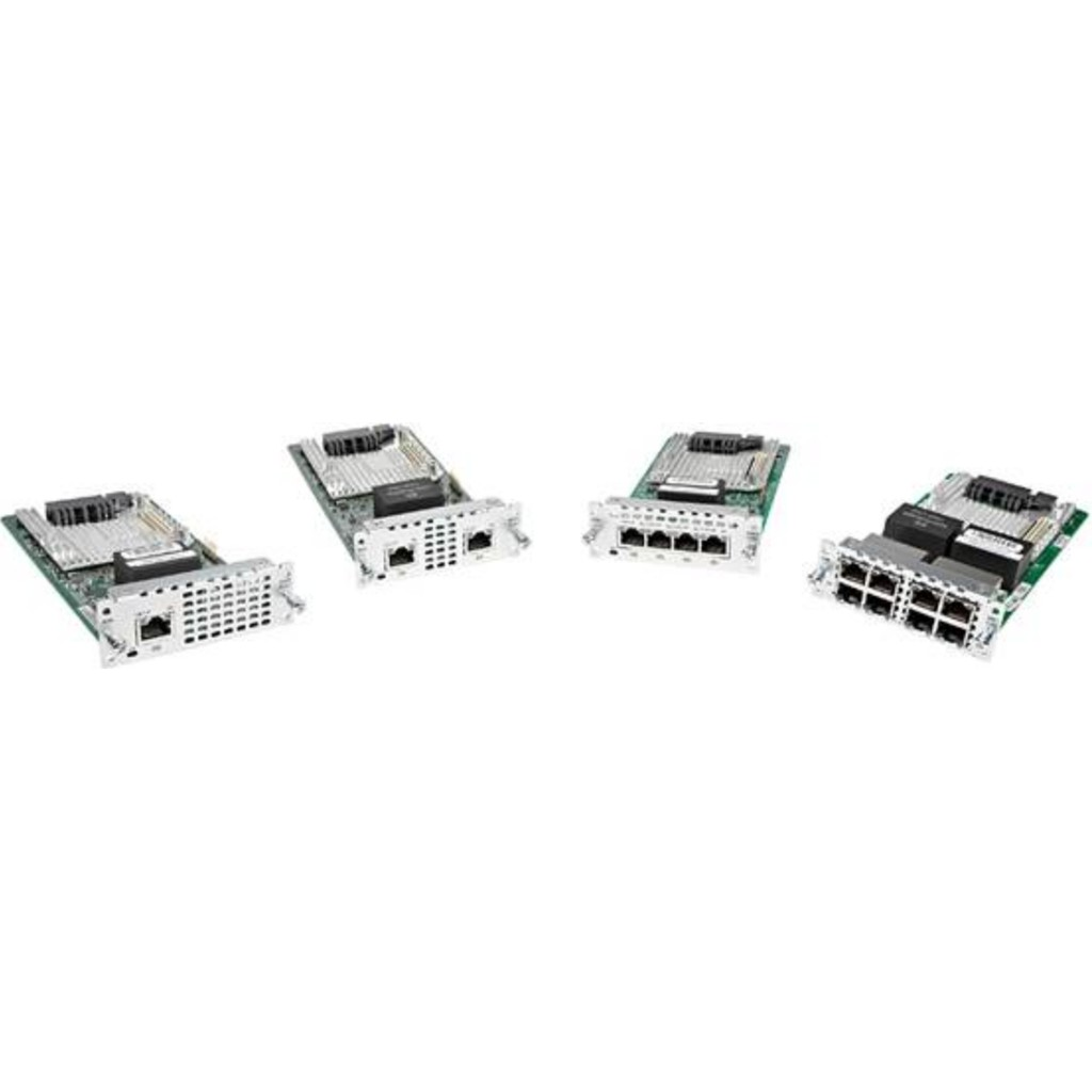 Cisco New NIM-4MFT-T1/E1= 4 port Multiflex Trunk Voice/Clear-channel Data  T1/E1 Module