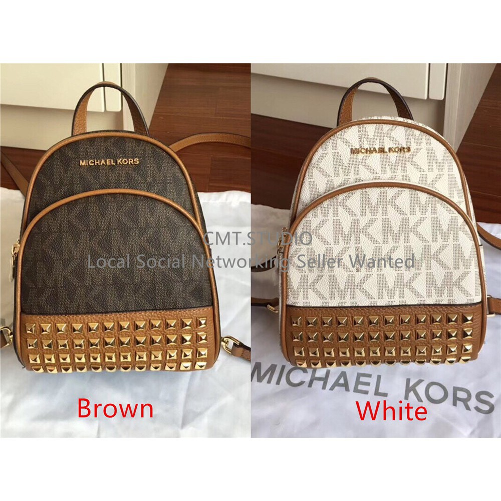 MK Michael Kors Abbey XS Studded Backpack singature Beg canvas Women handbag