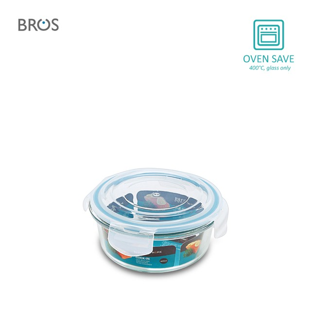 BROS Glass Container Click-In Round (600ml)