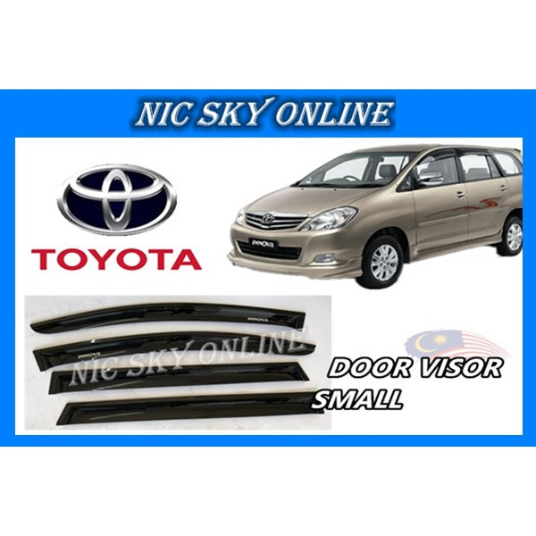 TOYOTA INNOVA VISOR SMALL 1SET~4PCS (With 3M adhesive tape)