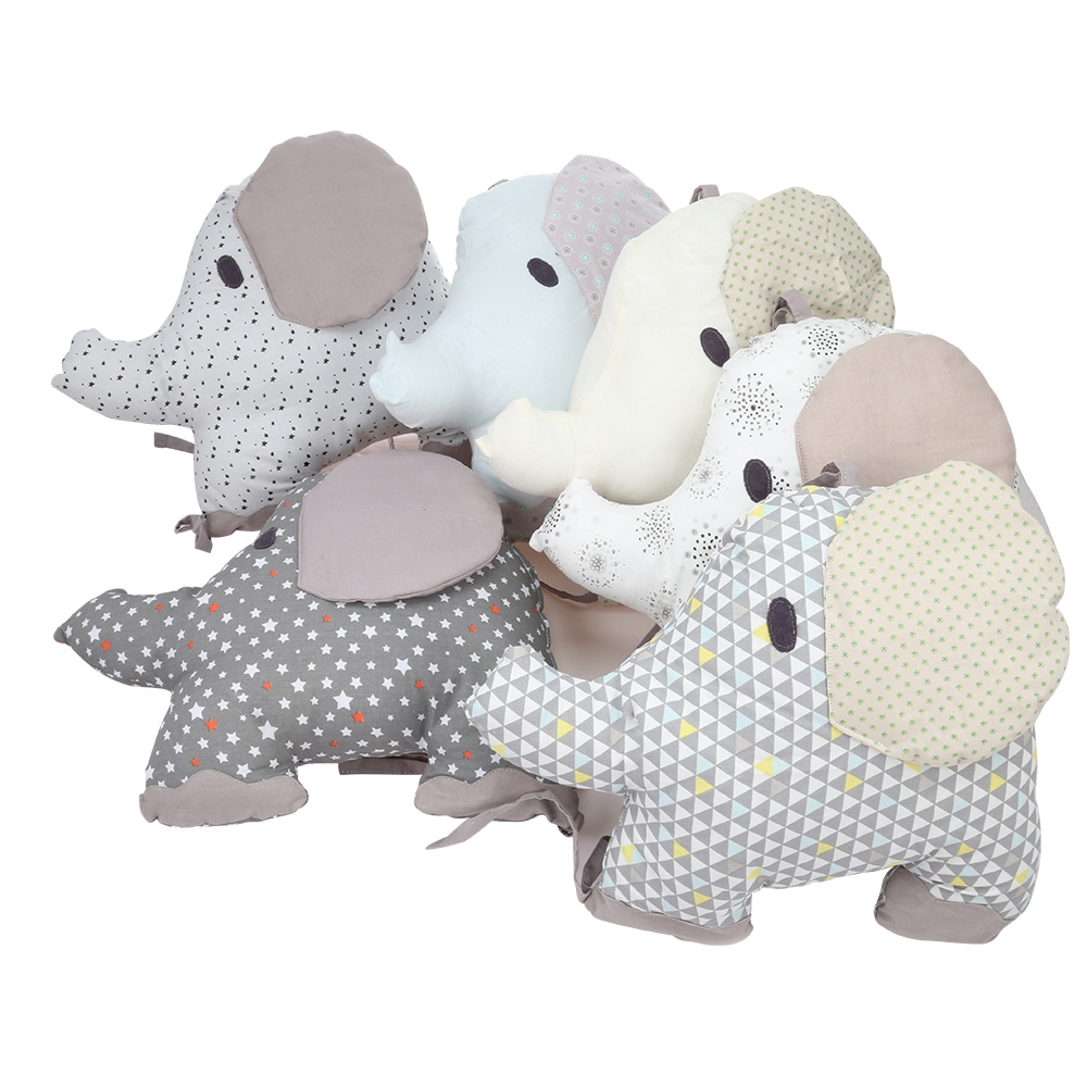 ce225f5af1a7 Soft Elephant Baby Bed Bumper Combination Backrest Cushion Protection Pad  6pcs