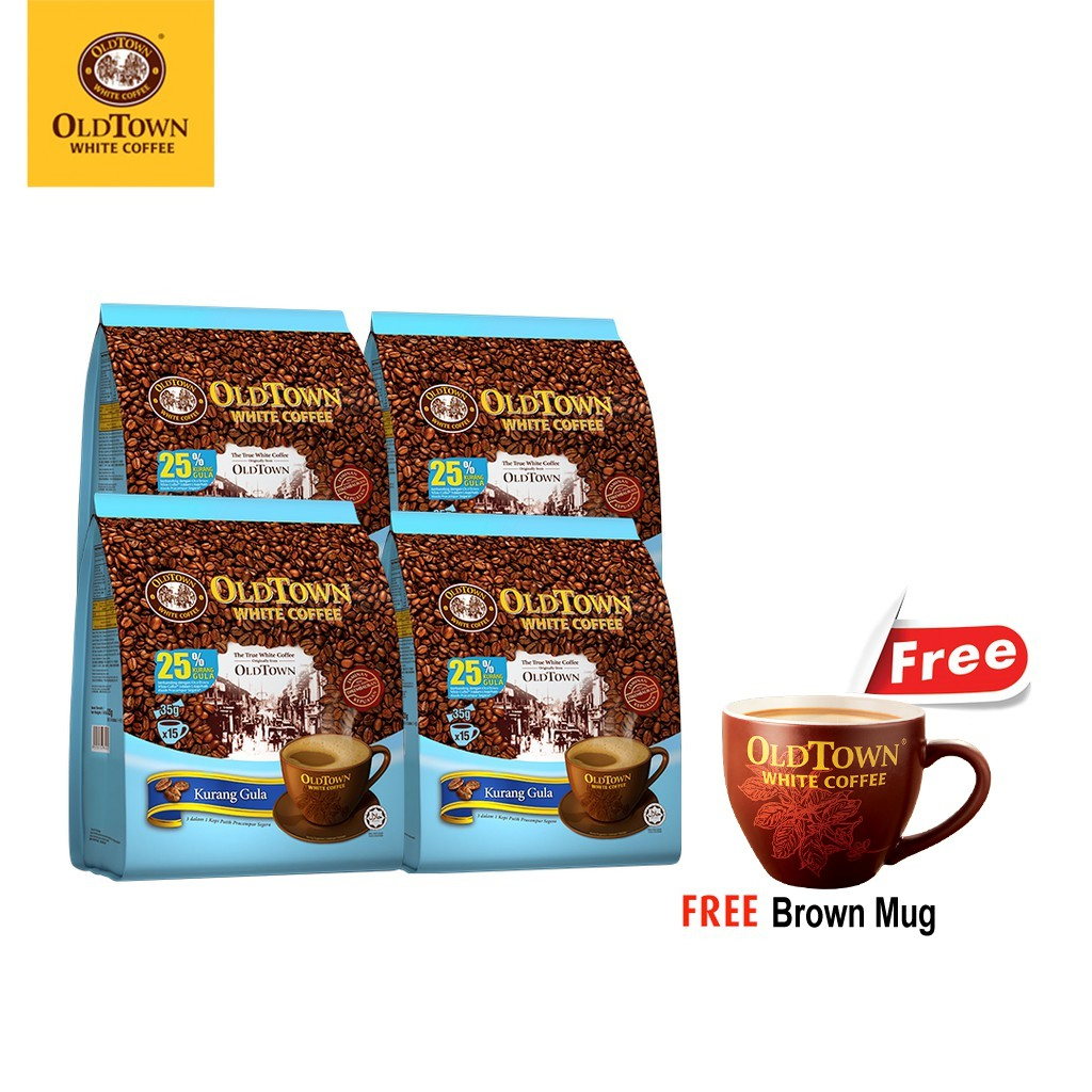 OLDTOWN White Coffee 3 in 1 Less Sugar (15's x 4) FREE ...