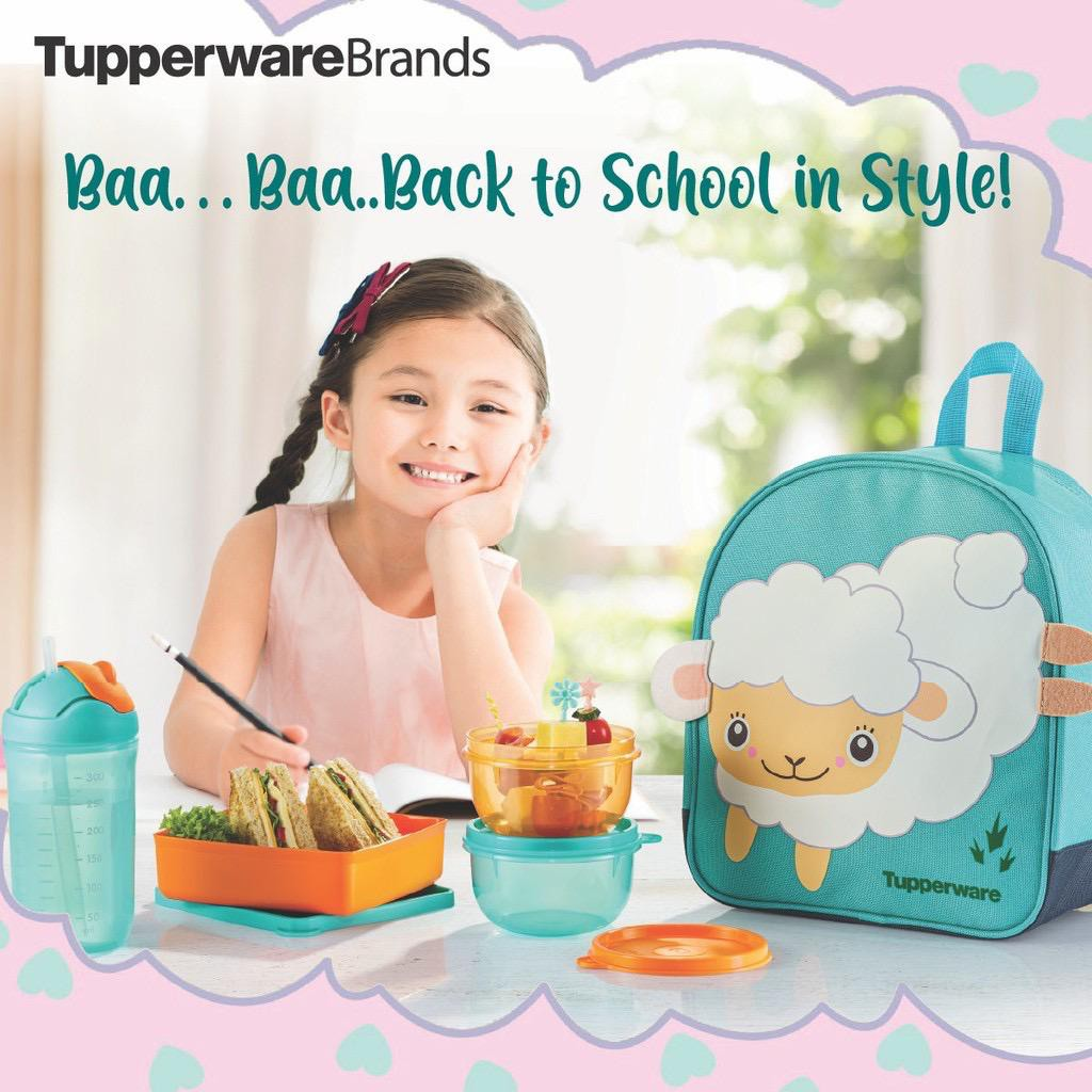 READY STOCK🔥🔥Tupperware Back to School Set/ Tupperware lunch box set/ backpack/ lunchbox