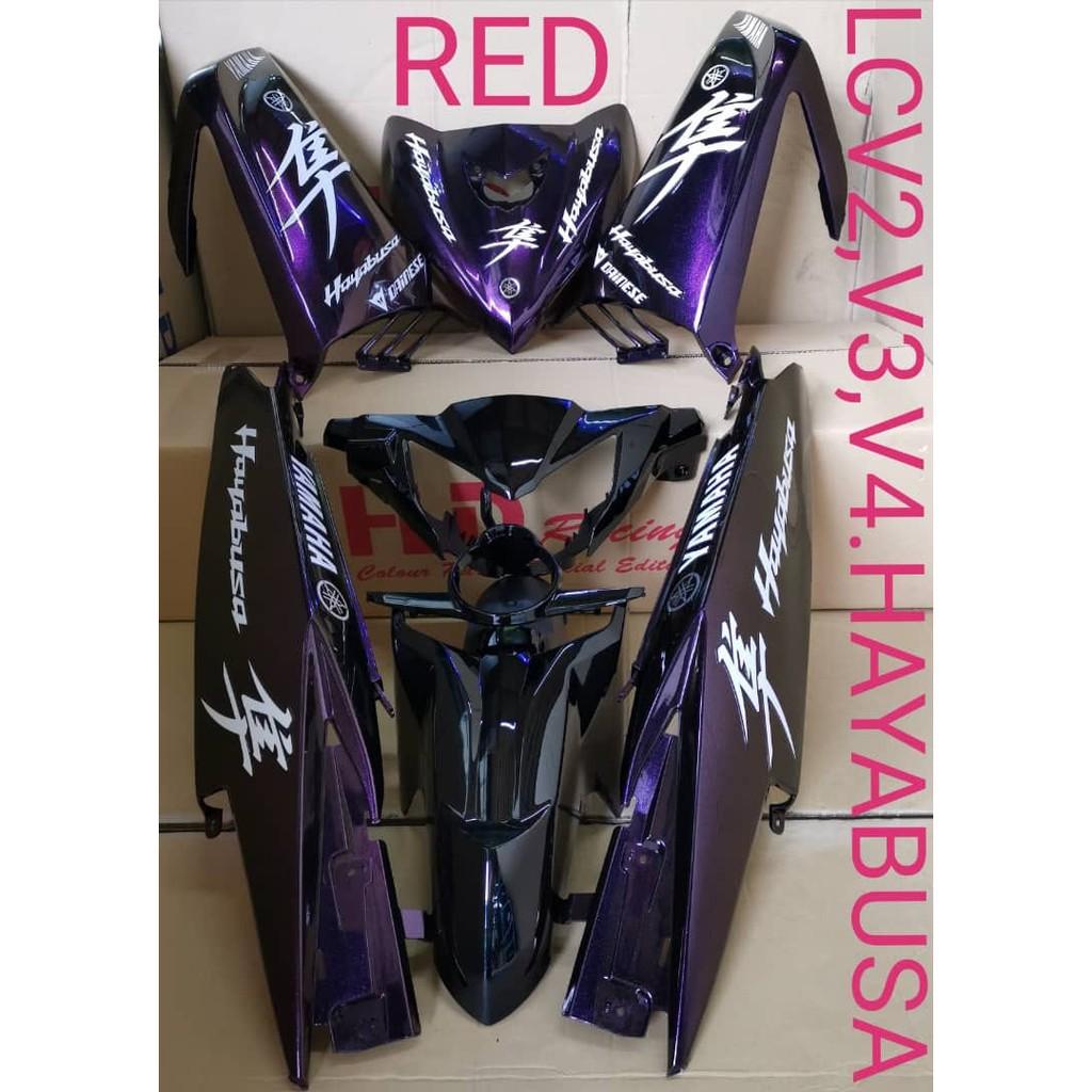 【READY STOCK】YAMAHA LC135 V2,V3,V4 HAYABUSA COLOUR PARTS BODY COVERSET HLD RACING(handle cover,legshield,sidecover,