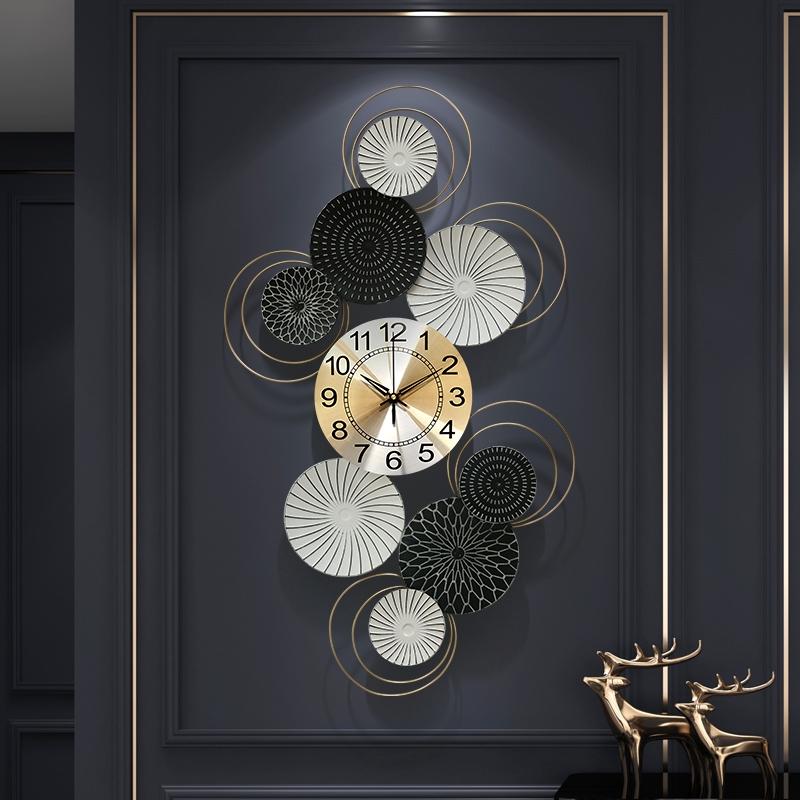 Wall Clocks Living Room Creative Wall Watch Mute Decorative Wall Clock Shopee Malaysia